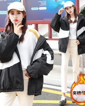 Thick thermal couples coat loose winter cotton coat