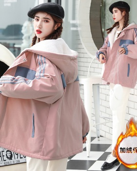 Lambs wool coat Korean style work clothing for women