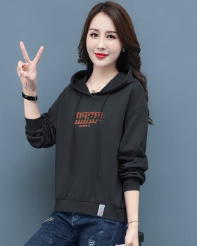 Lazy Korean style hoodie loose thin tops for women