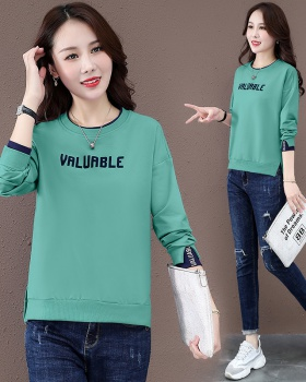 Not autumn hoodie student round neck tops for women