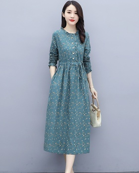 Western style spring and autumn autumn slim dress for women