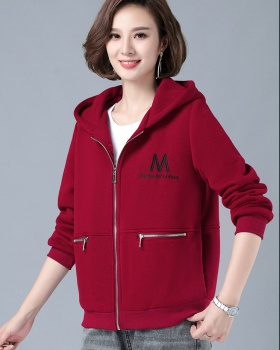 Short all-match autumn hoodie hooded Korean style tops