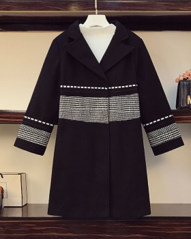 Western style slim windbreaker woolen coat for women