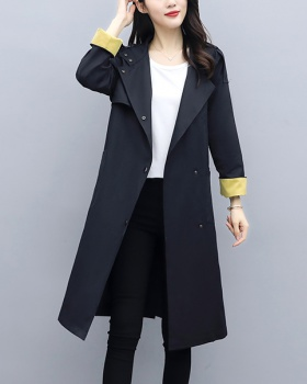 Fashion temperament large yard fat windbreaker for women