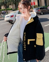 Lambs wool thick cotton coat student coat for women