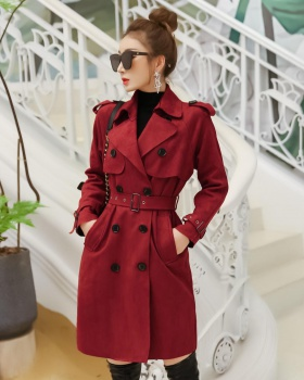 Autumn overcoat fashion windbreaker for women