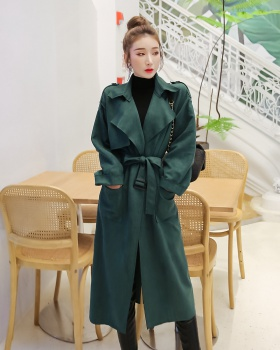 Waistband windbreaker temperament coat for women