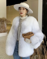 Fox fur autumn and winter overcoat long fur coat