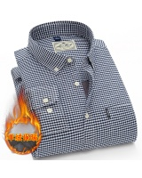 Long sleeve winter thermal business shirt for men