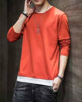 Autumn long sleeve bottoming shirt Casual fashion tops for men