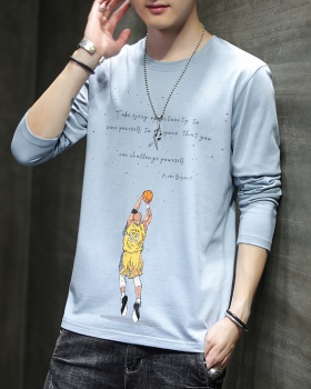 Long sleeve fashion T-shirt all-match tops for men