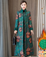 Chinese style thermal cheongsam winter cotton coat
