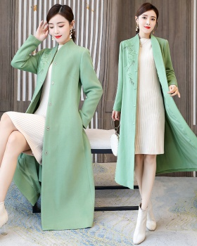 Chinese style cheongsam overcoat for women