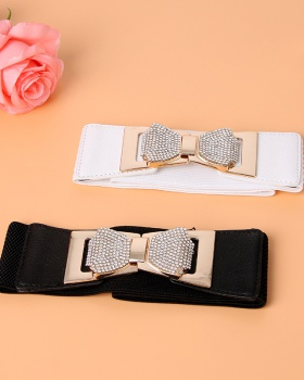 Tight waist Korean style belt loose bow fitting for women