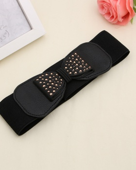 Elastic dress wide waist belt for women