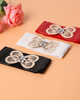 Hollow elastic elasticity Korean style belt for women