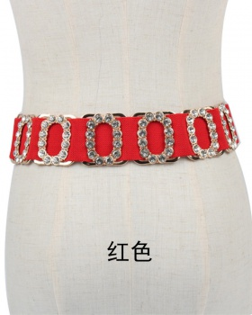 All-match elastic waist belt fashion dress for women