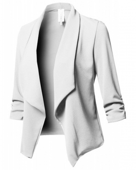 Pure fold long sleeve business suit