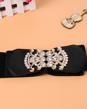 Fashion wide skirt inlay rhinestone belt