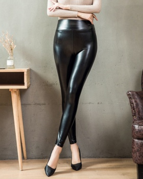 Autumn and winter leather pants long pants for women