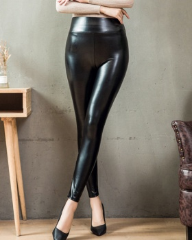 High waist large yard leggings plus velvet light long pants