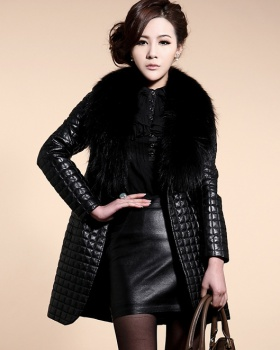Long overcoat sheepskin coat for women