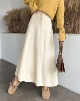 Autumn and winter high waist long skirt thick skirt