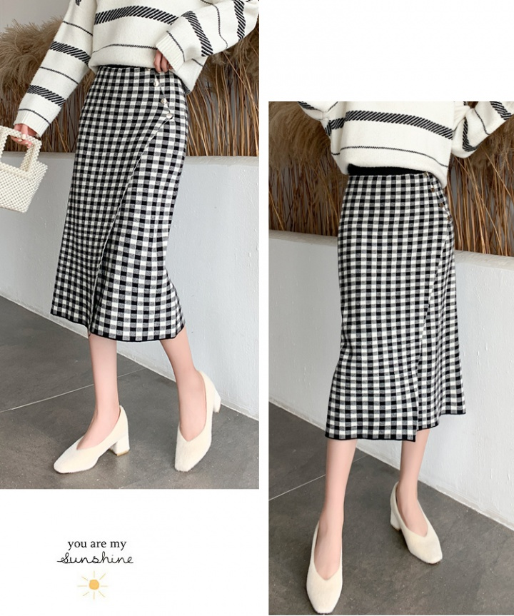 Imitation of woolen autumn and winter thick skirt for women