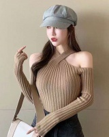 Halter strapless cross bottoming sexy sweater