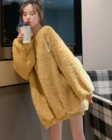 Korean style hoodie plus velvet coat for women