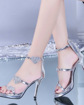 Summer fine-root fish mouth European style fashion sandals