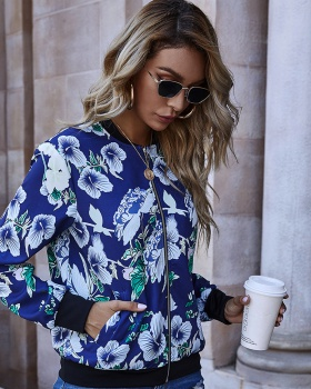 Casual fashion jacket printing European style coat