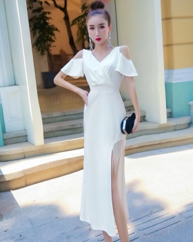 Ladies autumn sexy noble evening dress for women