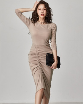 Sexy bottoming package hip autumn and winter dress