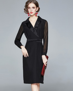 Temperament dress autumn and winter business suit