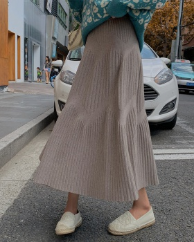 Korean style autumn and winter thick slim student skirt
