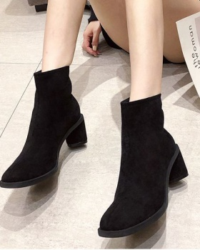 All-match thick women's boots European style slim martin boots