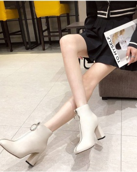 Fashion thick women's boots metal high-heeled boots