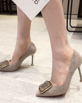 Korean style shoes pointed high-heeled shoes for women