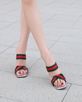 All-match large yard slippers refreshing transparent sandals