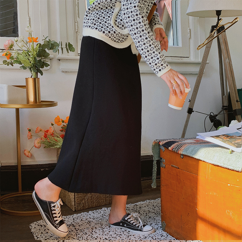 Autumn and winter one step skirt thick skirt