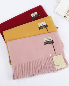 Pure imitation of cashmere shawl gift travel scarves