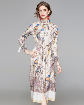 Printing dress long sleeve shirt for women