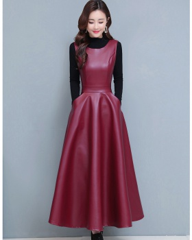Autumn and winter sleeveless dress dress 2pcs set