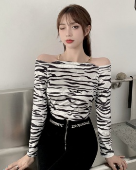 Sling tops long sleeve bottoming shirt for women
