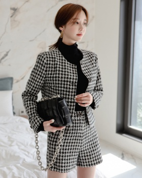 Temperament package hip jacket high waist skirt 2pcs set