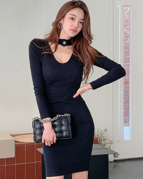 Simple bottoming package hip dress for women