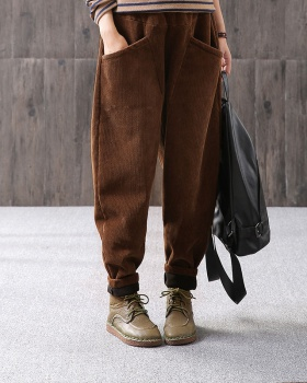 Elastic waist harem pants loose casual pants for women