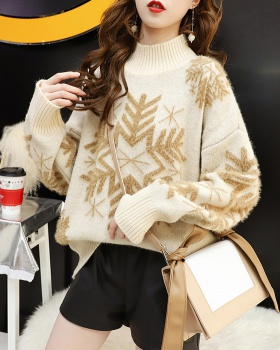 Loose pullover sweater lazy tops for women