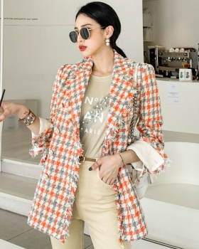 Lapel ladies business suit lady autumn and winter coat